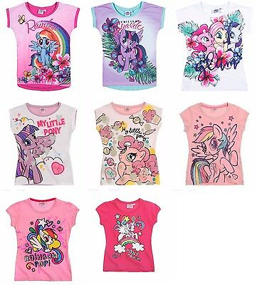 New girls officially licensed My Little Pony t-shirts short sleeve crew neck nwt