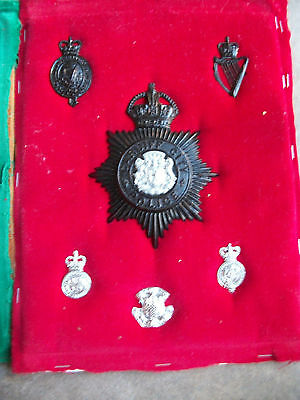 obsolete vintage NSW New South Wales  hat  police badge lot