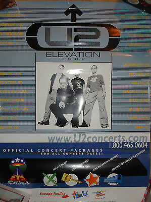 U2 Elevation Official Travel Package Blue Tour Poster 2001 Bono The Edge