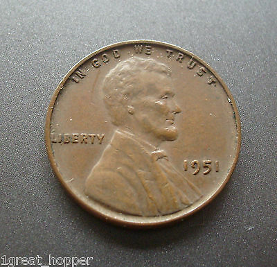 1951 WHEAT PENNY ERROR DETACHED HAIRLINE SEE PHOTOS - $35 00