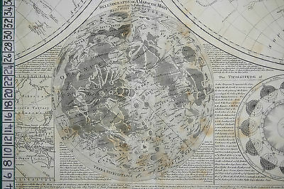 1782 The Moon Map Astronomy Selenography Samuel Dunn Robert Sayer Thomas Kitchin