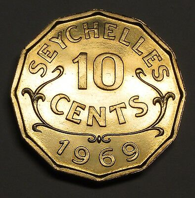 Seychelles 10 cents 1969 PROOF
