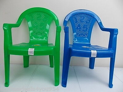 Opif-Indoor/outdoor-Set Of 2-Toddlers-Kids Plastic Stacking Chairs-Numbers-Boys