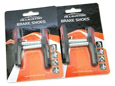 Alligator Bike Bicycle Cantilever Canti shoes pads Red Deore, Acera, 2 pair