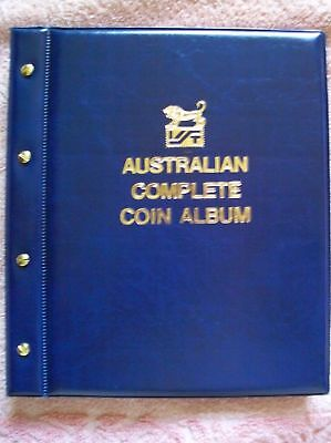 VST AUSTRALIAN COMPLETE COIN ALBUM 1910 to 2016. BLUE COLOUR with MINTAGES Shown