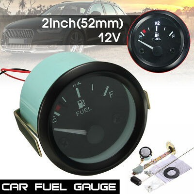 2'' 52mm Universal Car Fuel Level Meter Gauge With Fuel Sensor【E-1/2-F】Pointer