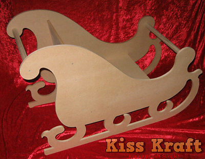 MDF Wooden Christmas Santa Sleigh - Photography Prop - RAW MDF Flat Pack