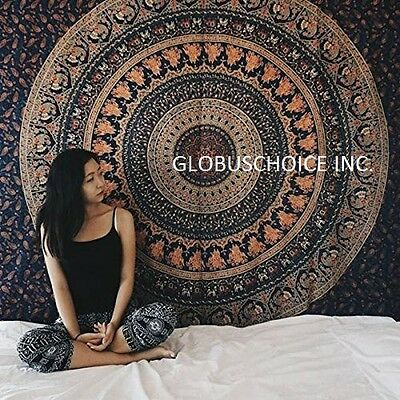 Hippie Indian Decor Mandala Tapestry Wall Hanging Throw Bohemian Twin Bedspread;