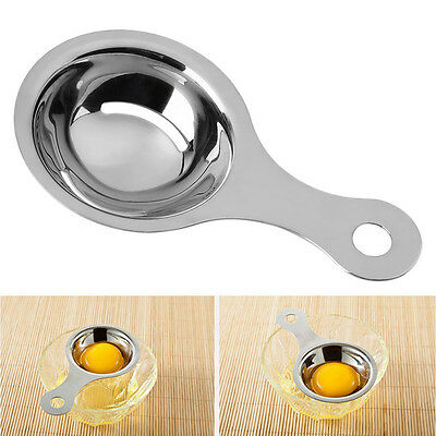 Egg White Yolk Separator Stainless Steel Strainer Filter Kitchen Cooking Tool