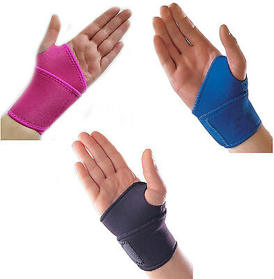 Adjustable Neoprene Palm Wrist Strap Wrap Support Brace Sprain Left Right Hand