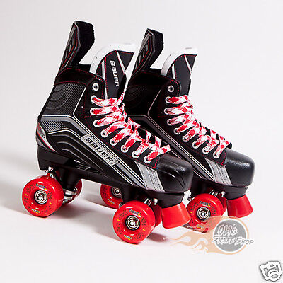 Bauer Vapor X200 Quad Roller Skate Conversion Red Clouds Wheels Indoor/Outdoor