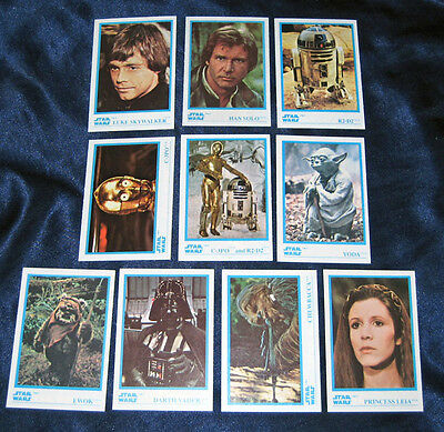 Star Wars 1984 Kellogg's Sticker Card Set #1-10 MINT Vintage Jedi Stick'r