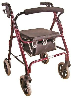 Aidapt Lightweight 4 Wheeled Rollator Red - VP176
