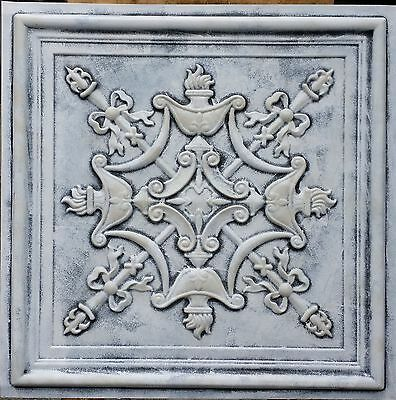 PL07 Faux tin 3D weathered embossed ceiling tiles decor wall panels10tile/lot