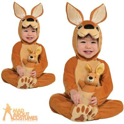 Baby Kangaroo Jumpin Joey Costume Babies Toddler Animal Fancy Dress Outfit New