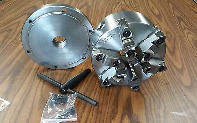 "8"" 6-JAW SELF-CENTERING  LATHE CHUCK w. top&bottom jaws, w. 1-1/2""-8 adapter-new"