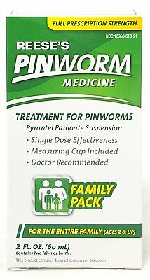 Reese's Pinworm Medicine 2oz Family Pack -Expiration 03-2021-