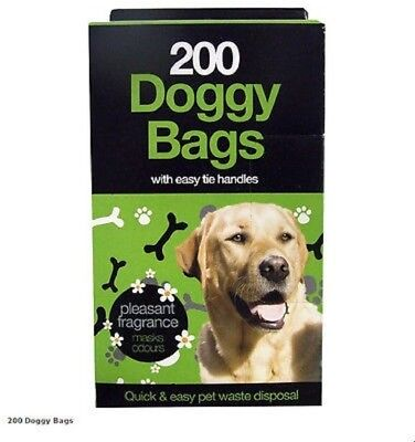 200 DOGGY BAGS Scented Pet Pooper Scooper Bag Dog Cat Poo Waste Toilet Poop