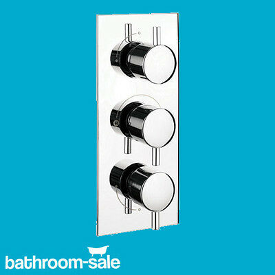 Vertical Three Control Shower Bath Valve Only Chrome | Genuine ProductRRP: £219