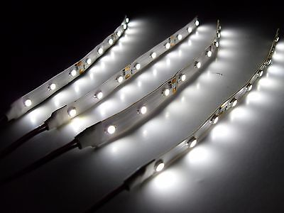 """RC White Underbody Underglow LED Strip Lights Superbright FPV Quadcopter 6"""""""