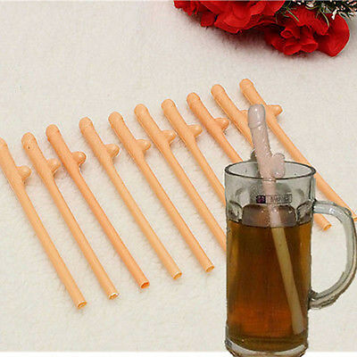 10pc Hens Party Night Pecker Willy Penis Dicky Sipping Straws Bachelorette Straw