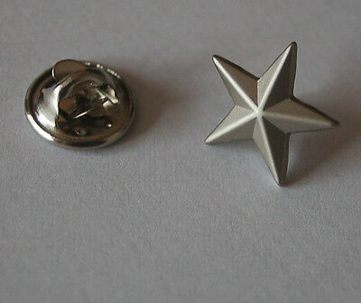 Stern Silberfarben Silber Pin Button Badge Anstecker Anstecknadel Sticker TOP
