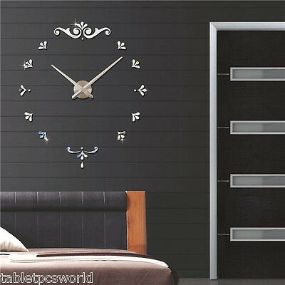 Reloj De Pared 3D Wall Clock Style Watches DIY Decorations Superficie Pegatina