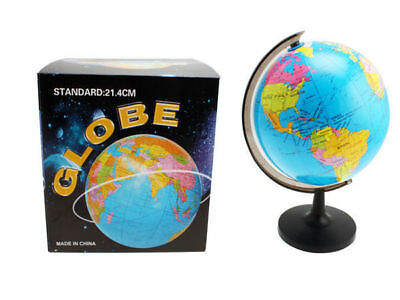 world spinning globe on stand country & state definition 22cm