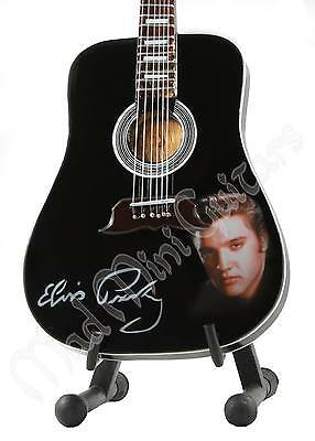 Miniature Guitar ELVIS PRESLEY with free stand.