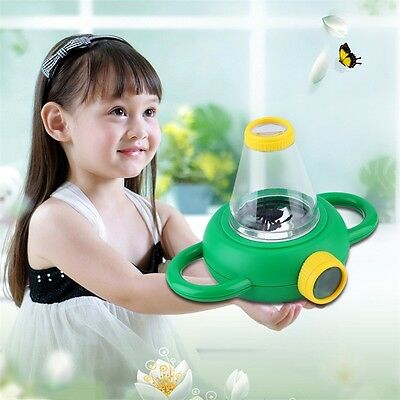 Two Way Bug Insect Observation Viewer Kids Toy Magnifier Magnifying Glass JL
