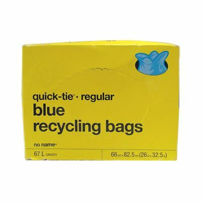 40 Quick-Tie Blue Recycling Bags (67L)