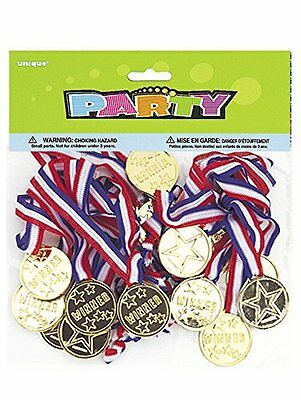 Winners Medals Party Bag Fillers, Pack of 24 _Henbrandt T02 700