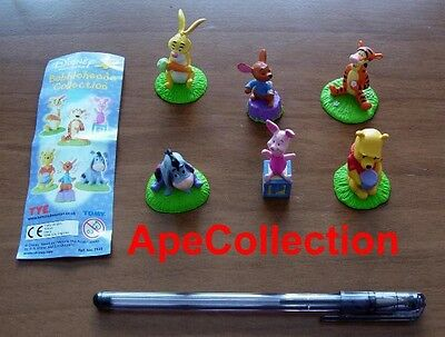 DISNEY Tomy SET 6 Figure WINNIE POOH BOBBLE HEAD Eeyore Tiger Pimpi Ro FIGURES