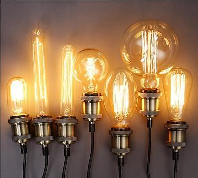 Vintage Squirrel Cage Antique Style Bulbs Edison Industrial Filament Retro Bulb