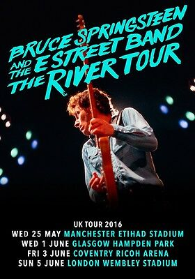 BRUCE SPRINGSTEEN The River 2016 UK Tour PHOTO Print POSTER E Street Band 013