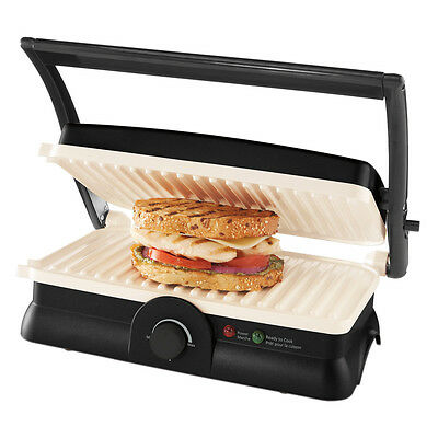 Oster DuraCeramic Panini Maker/Grill, Black and White CKSTPM20W-033