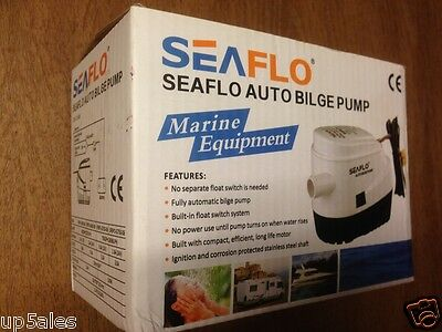 12V SEAFLO AUTOMATIC SUBMERSIBLE BOAT BILGE WATER PUMP with FLOAT SWITCH      R6