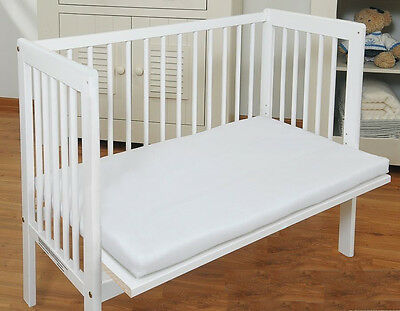 White or Pine Baby Co Sleeper Cot Side by Side with Mattress,Sheet and Bumper