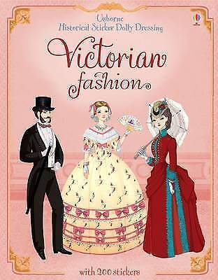 Historical Sticker Dolly Dressing Victorian Clothes & Fashion Paperback Usborne