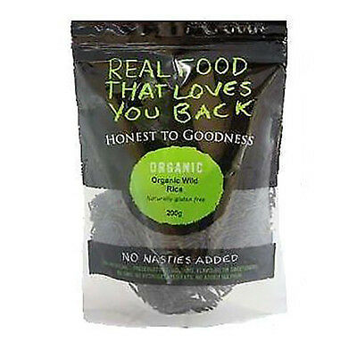 200g Organic Wild Rice USA Grown - Honest To Goodness