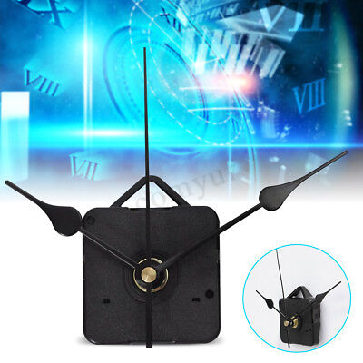 Black Hands DIY Quartz Clock Spindle Movement Mechanism Repair Kit Parts Silence