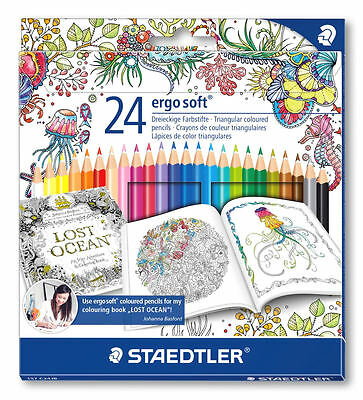 Pack of 24x Staedtler Ergosoft Colour Pencils Ideal For Adult Colouring Books