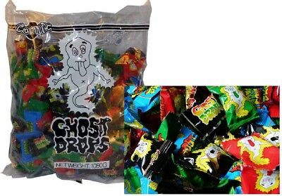 240 x GHOST DROPS LOLLIES BULK PARTY FAVOR LOLLY CONFECTIONERY FAVOUR BAGS