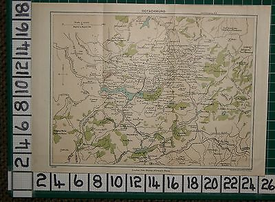 Antique India Map ~ Ootacamund Environs Hobart Park Jail Post Office Schools