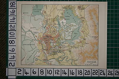Antique India Map ~ Srinagar Lal Mundi Badami Bagh Silk Factory Maharaj Gung