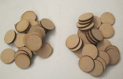 25mm + Round Circle MDF 3mm Bases D&D Frost Grave Bolt Action warhammer