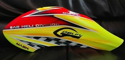 MaskPro Ultimate Airbrush Fiberglass Canopy For SAB Goblin 380 Red