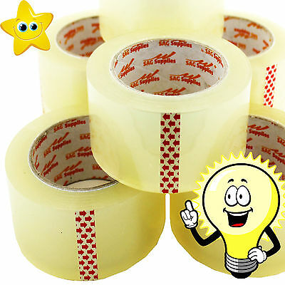 11 HUGE Rolls Of CLEAR STRONG Parcel Tape Packing sellotape Packaging 48mm x 66m