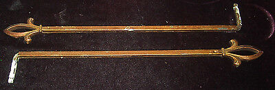 2 Antique Art Deco Art Nouveau Swing Arm Drapery Curtain Rods