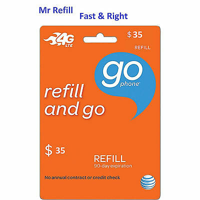 AT&T Go Phone $35 Refill - fast & right